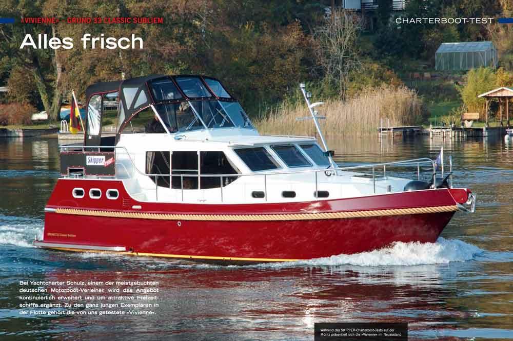 Hausboot mieten Testbericht Gruno 33 Bootsurlaub.de