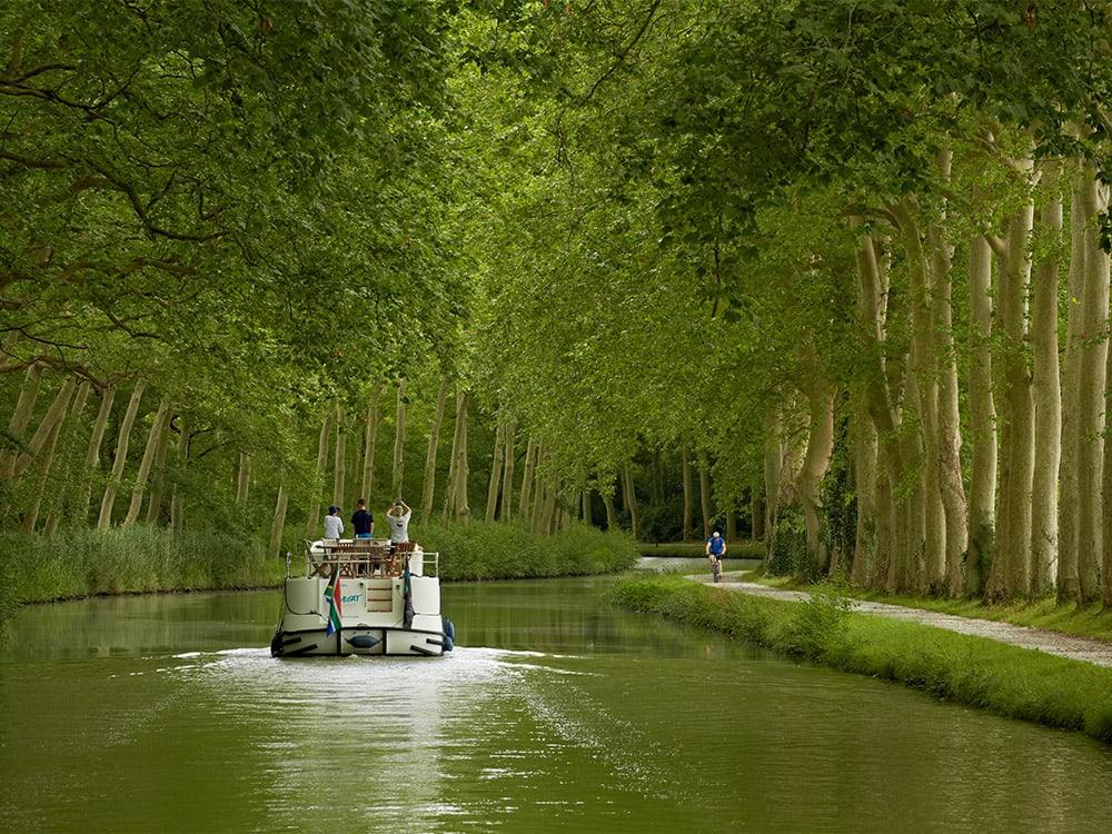 Canal du Midi, boat, Hausboot