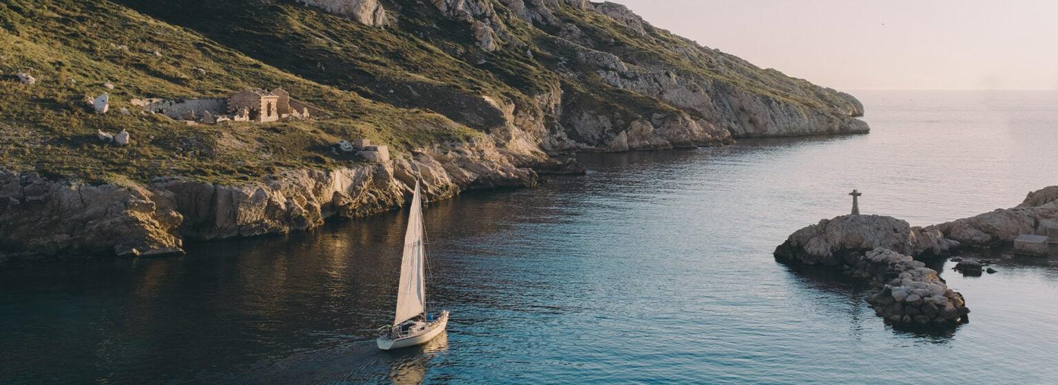 Franzosische Mittelmeerkuste, Yacht, boat